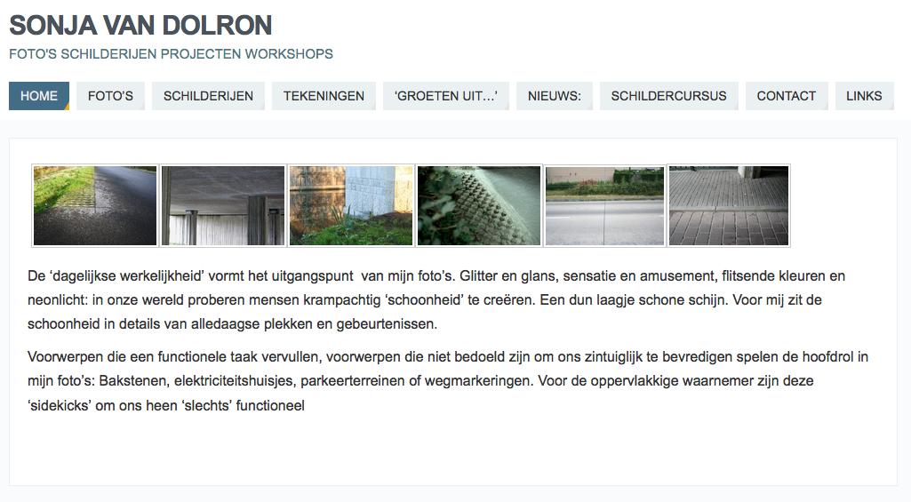 Website Beeldend Kunstenaar