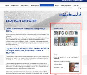maasbeeld website met zijbalk
