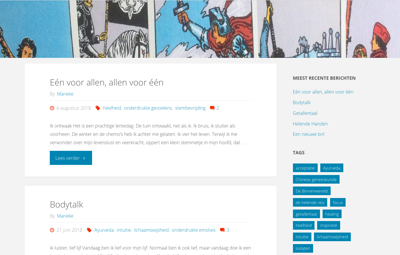 Blog met persoonlijke verhalen