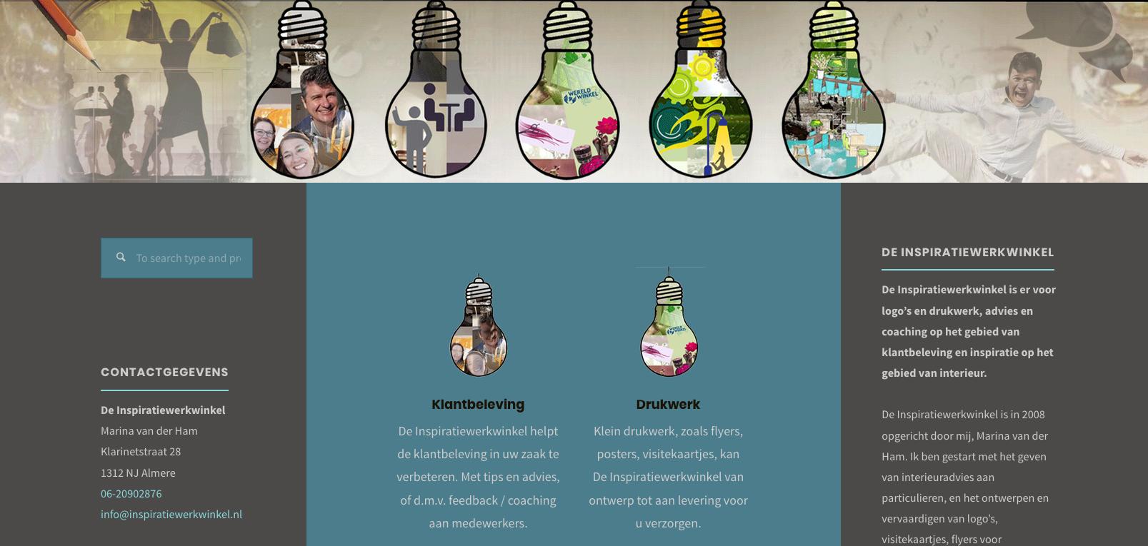 Website creatieve diensten