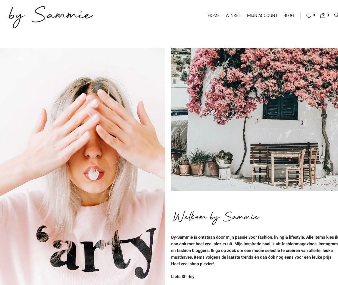 Webshop met kleding en accessoires